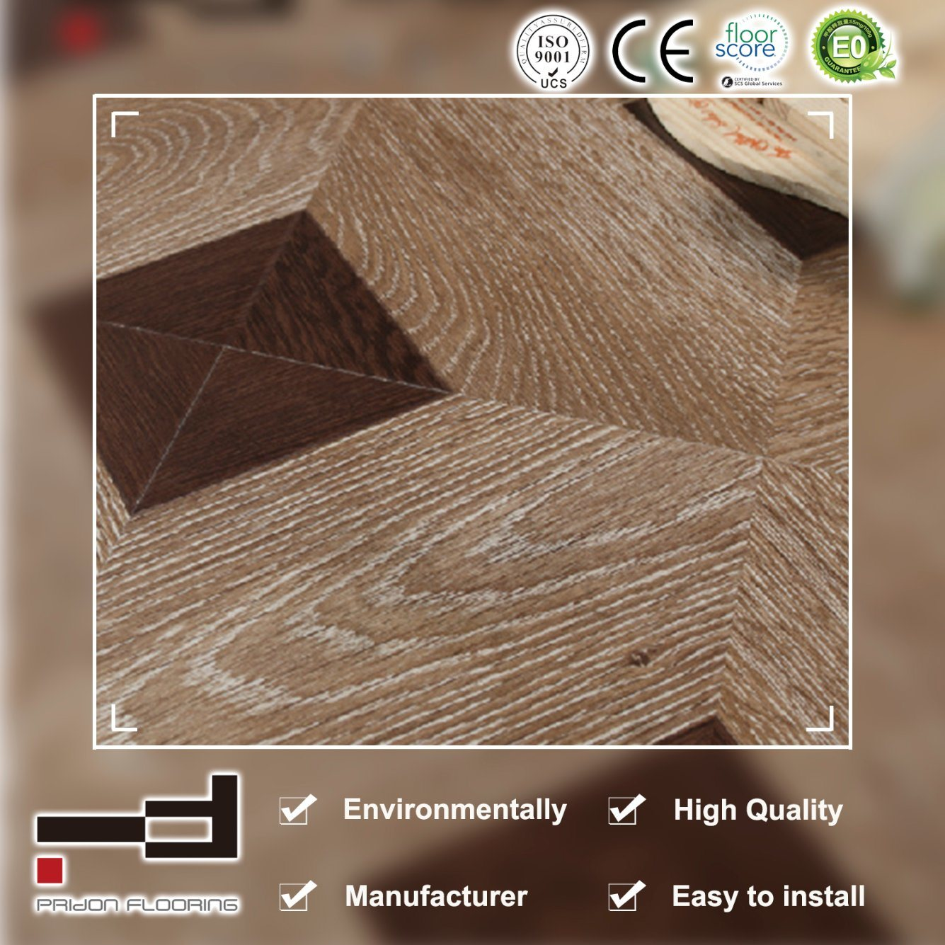 China 12mm German Technology Ce Art Paste Up Parquet Laminate Laminated Flooring