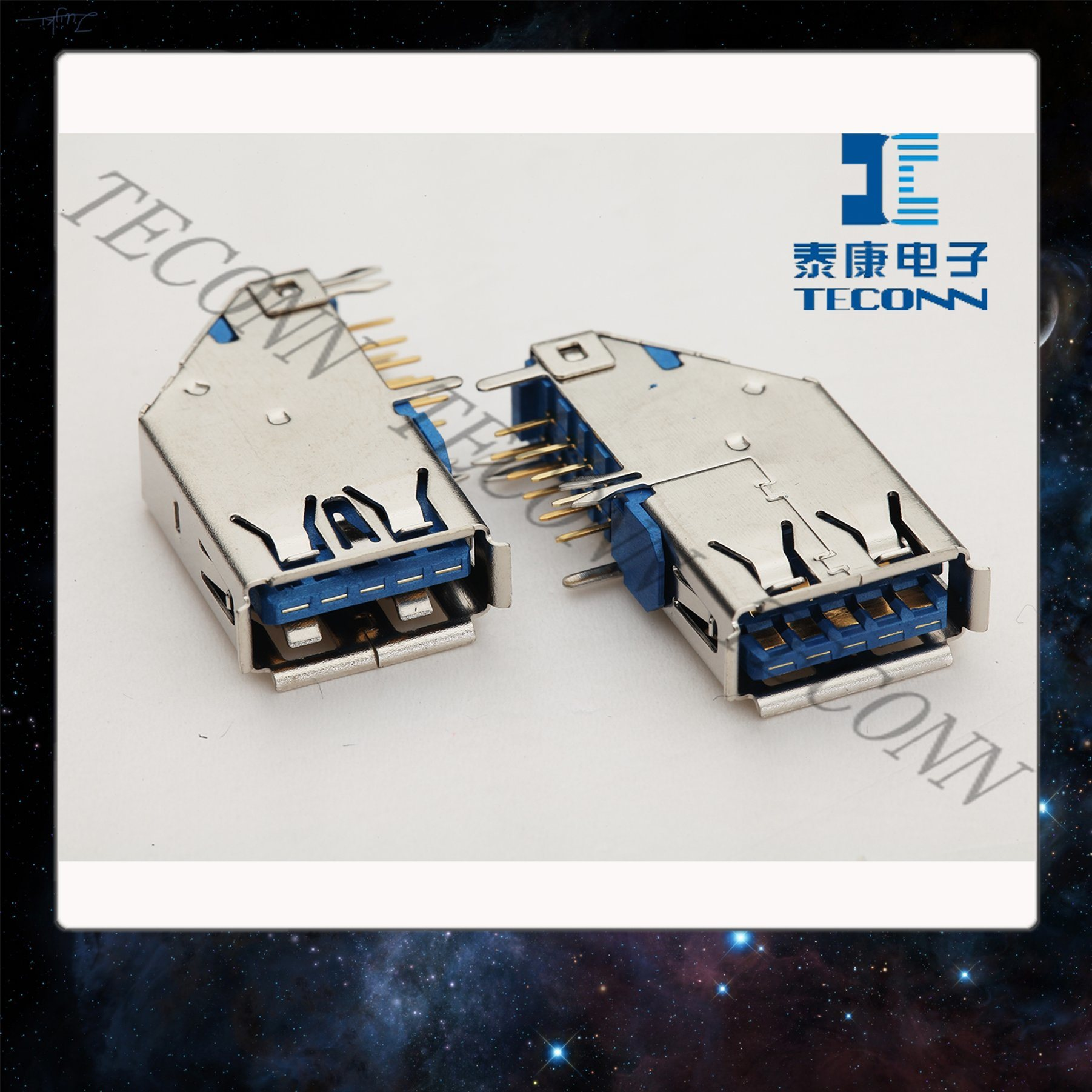 China USB 3.0 Standard-a Receptacle Side Type - China Connector, USB