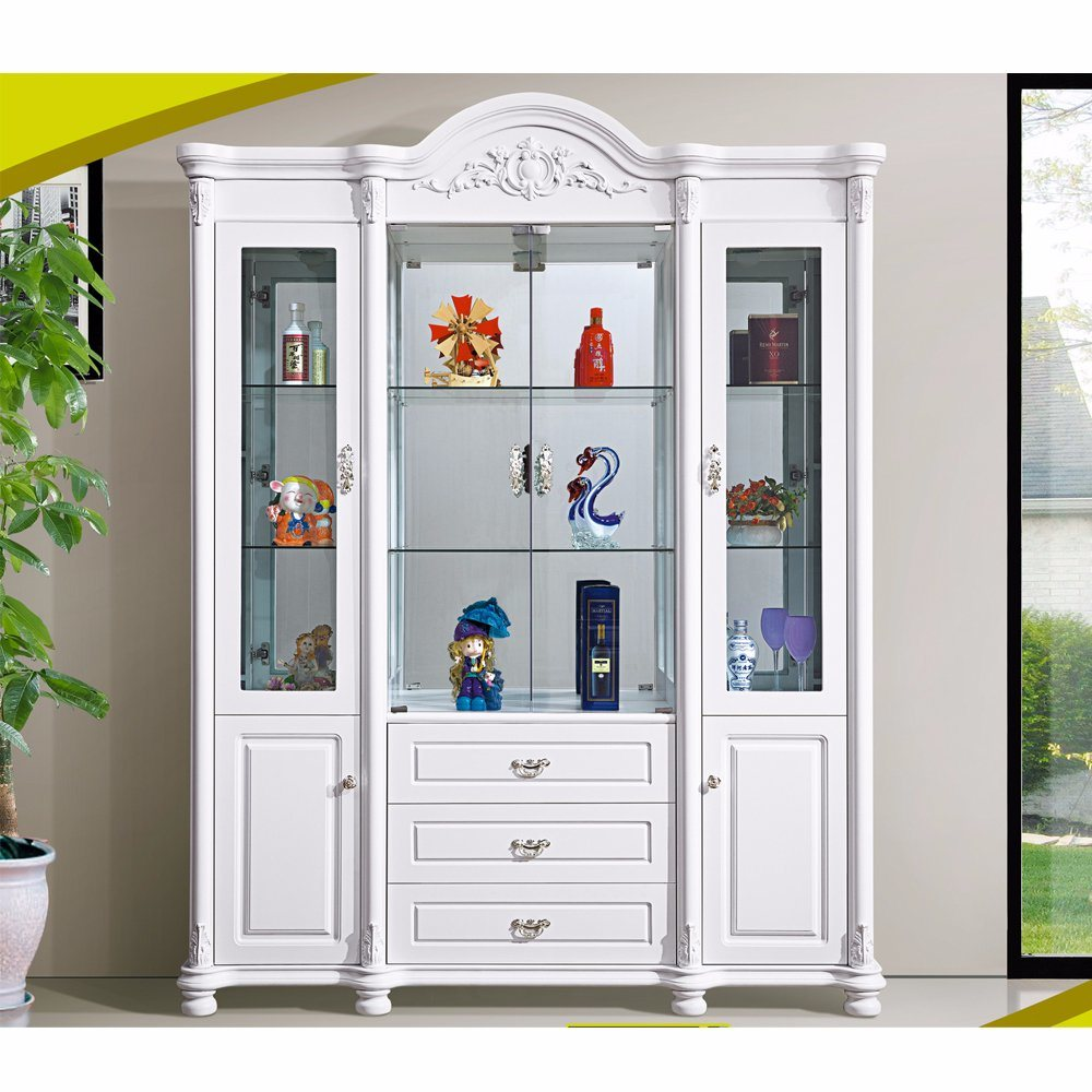 China Modern Bar Home Living Room White Wood Wine Cabinet Photos ...