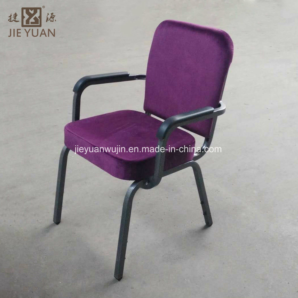 Hot Item Stackable Auditorium Church Chair With Armrest