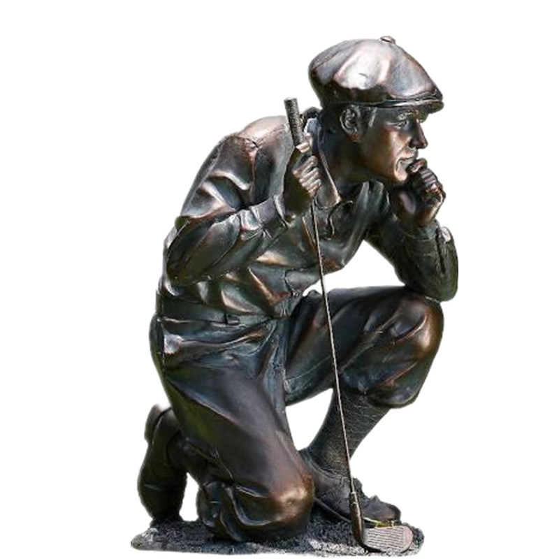 China Outdoor Bronze Children Playing, Outdoor Golf Statues