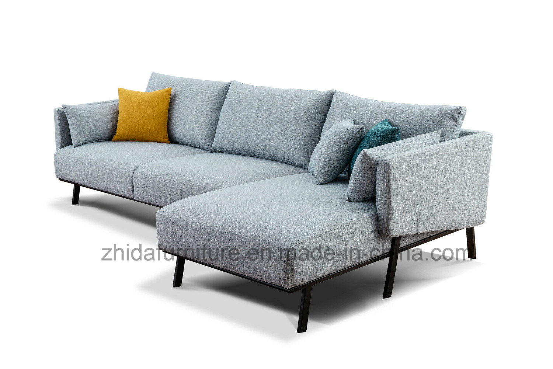 Picture of: Chinese Blue Sofa Nordic Furniture L Shaped Sectional Sofa Set China Sofa L Shape Sofa