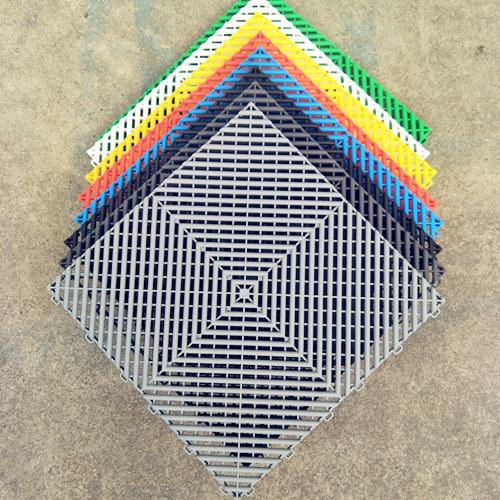 China Interlocking Garage Floor Tiles Drainage Anti-Slide PVC Garage ...