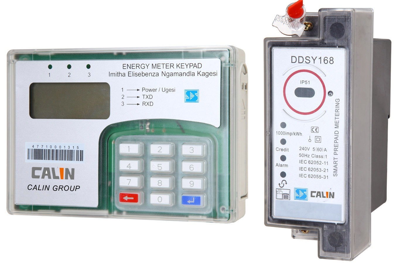 DIN Rail Mounting Keypad Split Energy Meter (wireless RF communication)