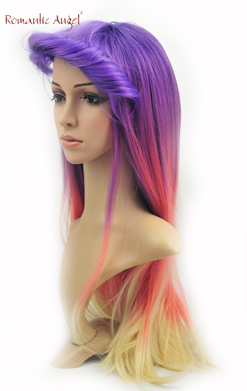 Dye Color Beautiful Fashion Women Straight High Qualtiy Synthetic Wigs 0a471b4ab