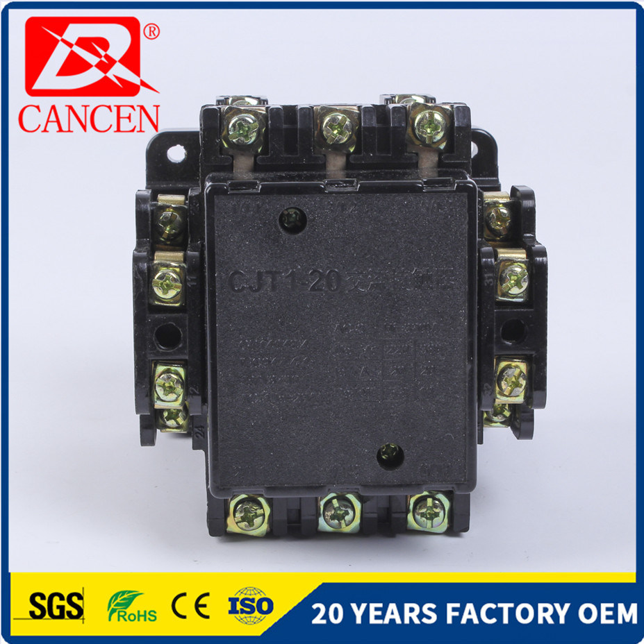 China Cjt1 40a Electromagnetic Contactor For Electric Motor Wiring A Circuit Diagram Of An Electromagnet 380v 50hz Ac Alternating Current Exchanges
