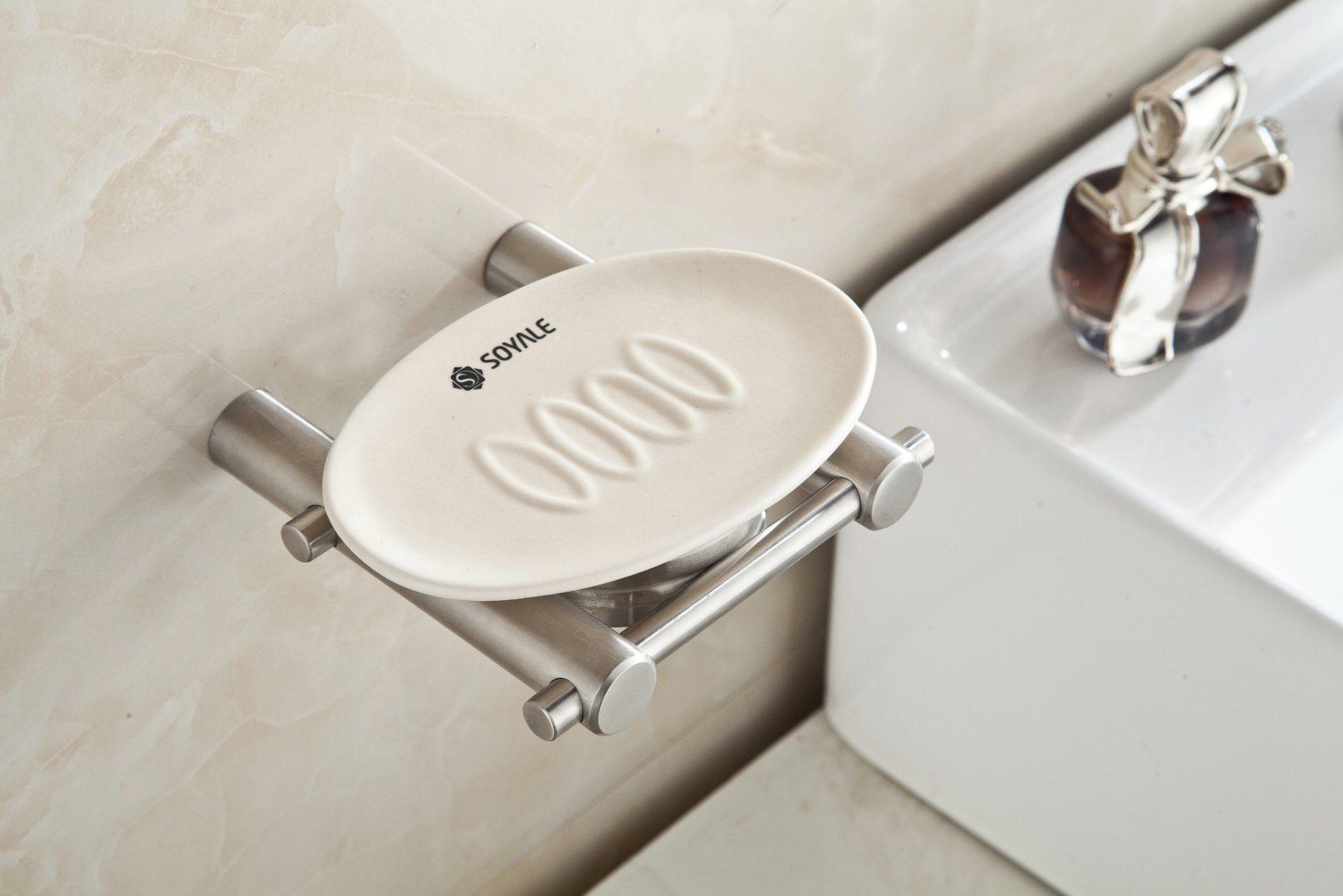 Brushed Nickel Soap Dish Stainless Steel 304 Soap Shower Holder  for Bathroom