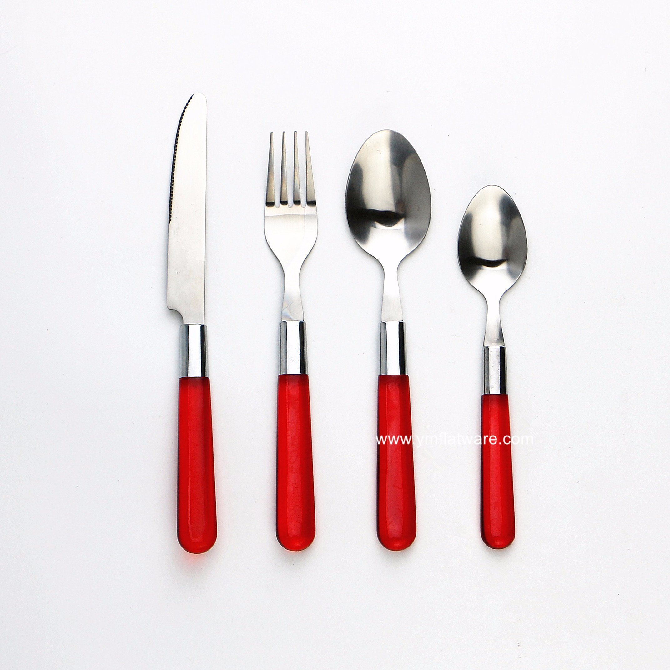 REUSABLE PLASTIC METALLIC CUTLERY SET PARTY FORKS SPOONS 48 RED  DISPOSABLE