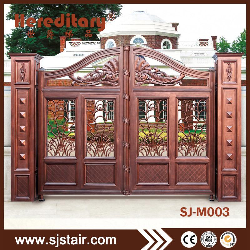 [Hot Item] Exterior Decorative Cast Aluminum Panel Automatic Main Gate  Design