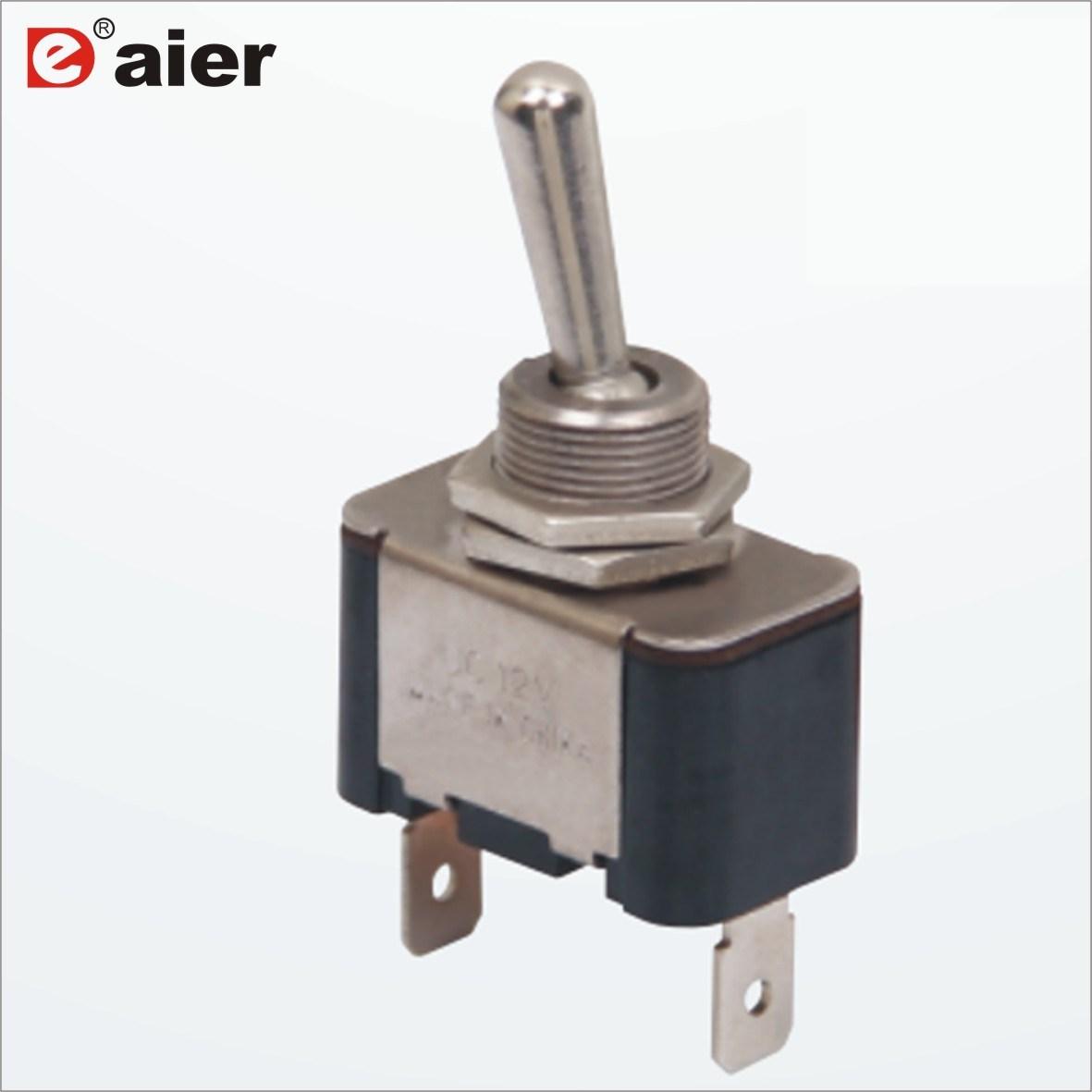 China Metal On Off Locking 2 Way 15a Pcb Toggle Switch Electronics