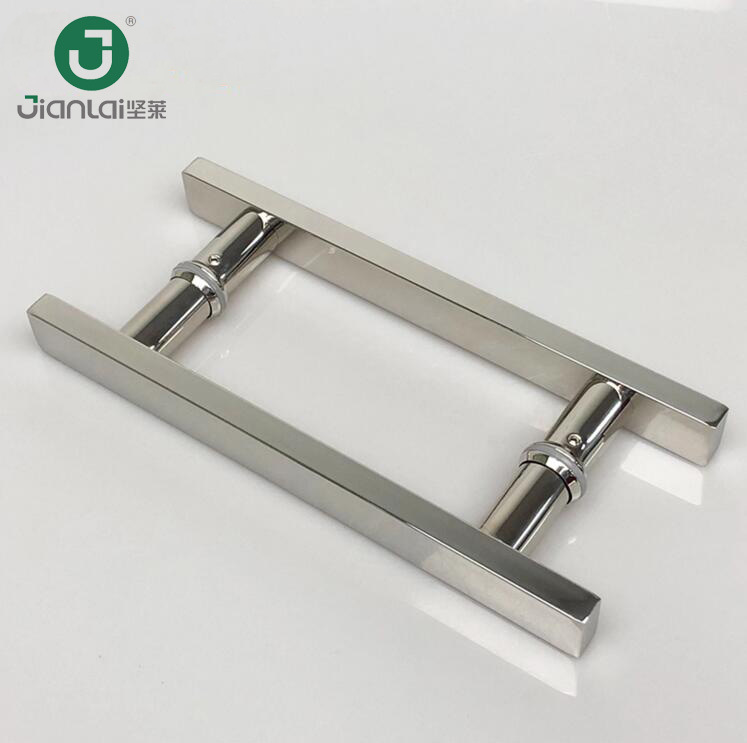 China Square Shape Stainless Steel Sliding Glass Door Handle For