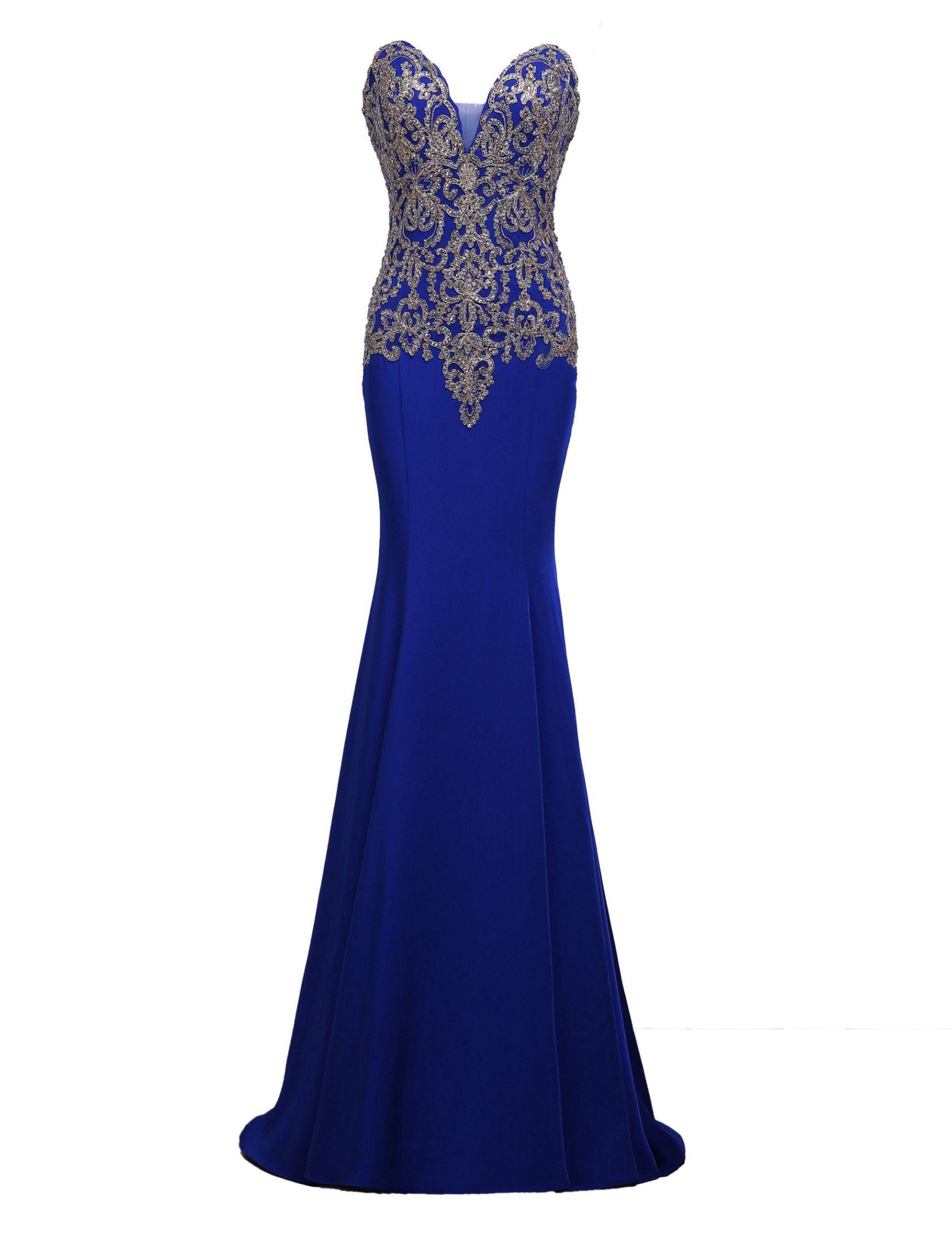 9cfe63d4a7e Gold Lace Applique Prom Dress