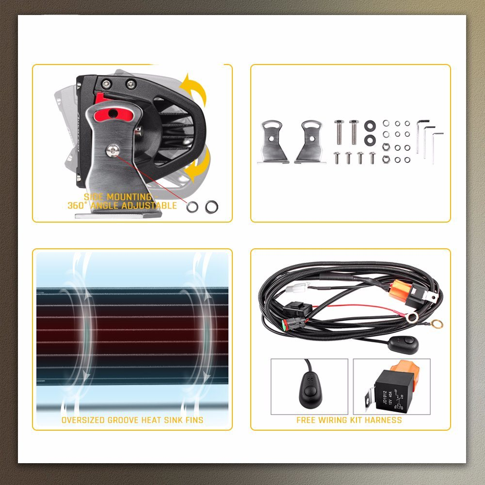 China 20000lm 200w Jeep Led Light Bar 4 Row 22inch 50inch 12d 50 Inch Wiring Harness For Truck