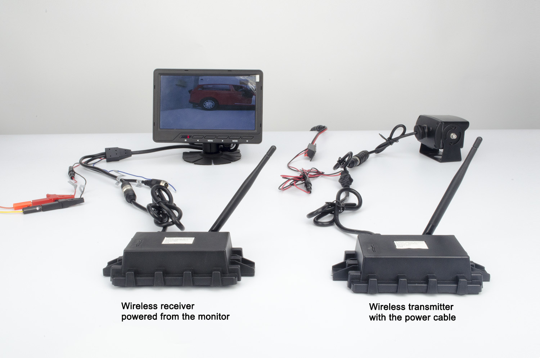 New 2.4G Wireless Color Video Transmitter /& Receiver For Car Reversing Camera