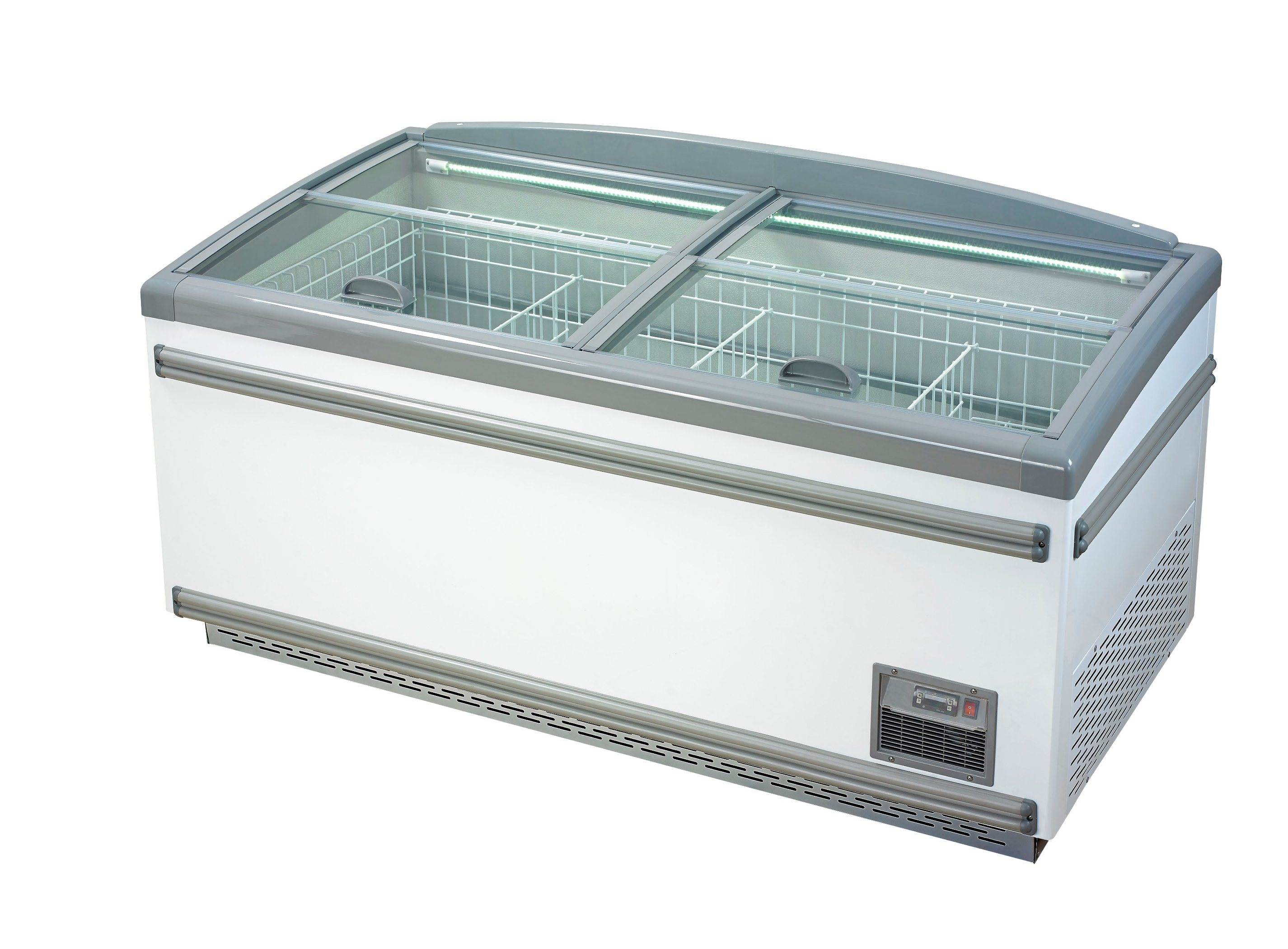 China Frozen Food Ice Ream Island Freezer with Glass Cover - China ...