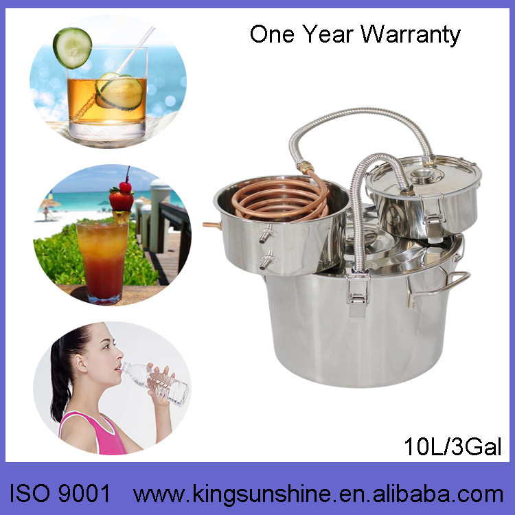 Kingsunshine 18L/5gal Stainless Steel Distiller, Moonshine/Whisky/Rum DIY Distillation Equipment
