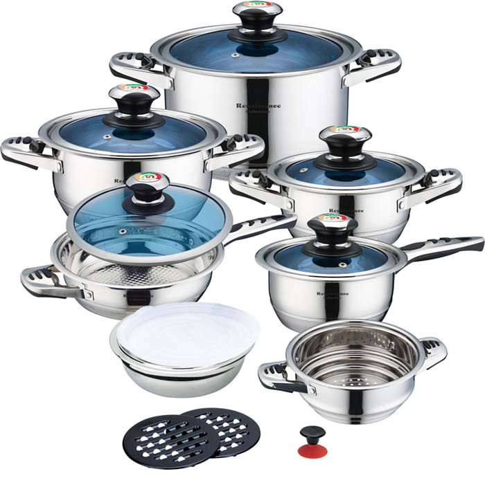 High Quality 16PCS Stainless Steel Cookware Set (CS116003)
