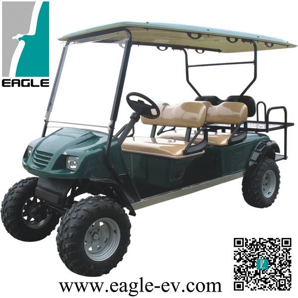 China Electric Golf Cars Six Seat Right Hand Drive Ac Motor Car Lifted Vehicle