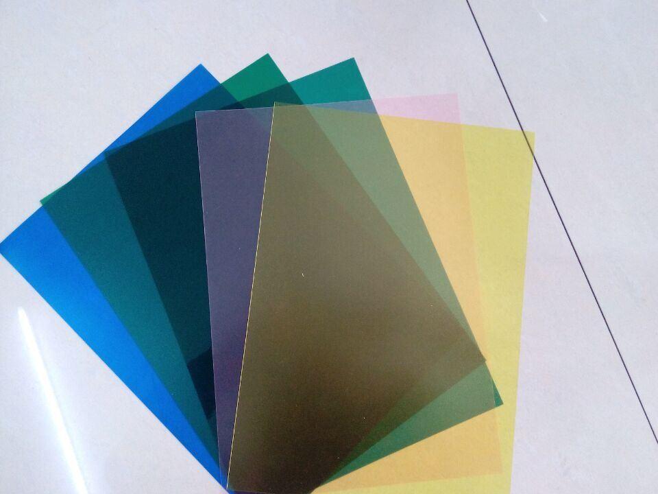China Grain Matt Printing Advertising Rigid Clear Color PVC Plastic ...