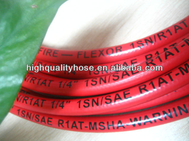 Cloth / Smooth Surface Black and Colorful Hydraulic Hose 1sn 2sn