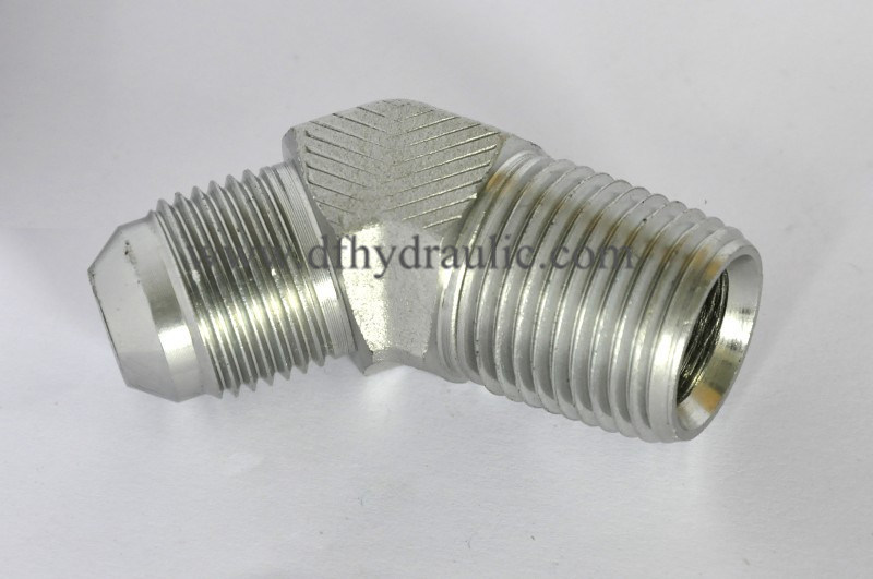 """5 pc Hydraulic Fitting Part #2503-04-06   1//4/""""JIC to 3//8/"""" NPT  Elbow 45 degree"""