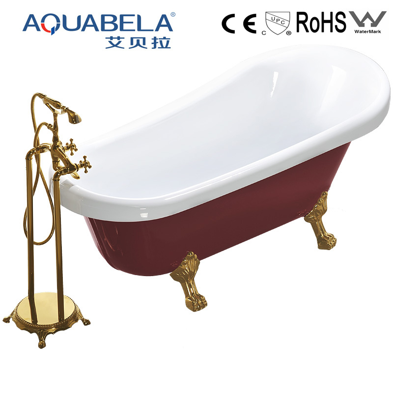 China Wholesale Red Acrylic Clawfoot Bath Tub in Small Size (JL622 ...