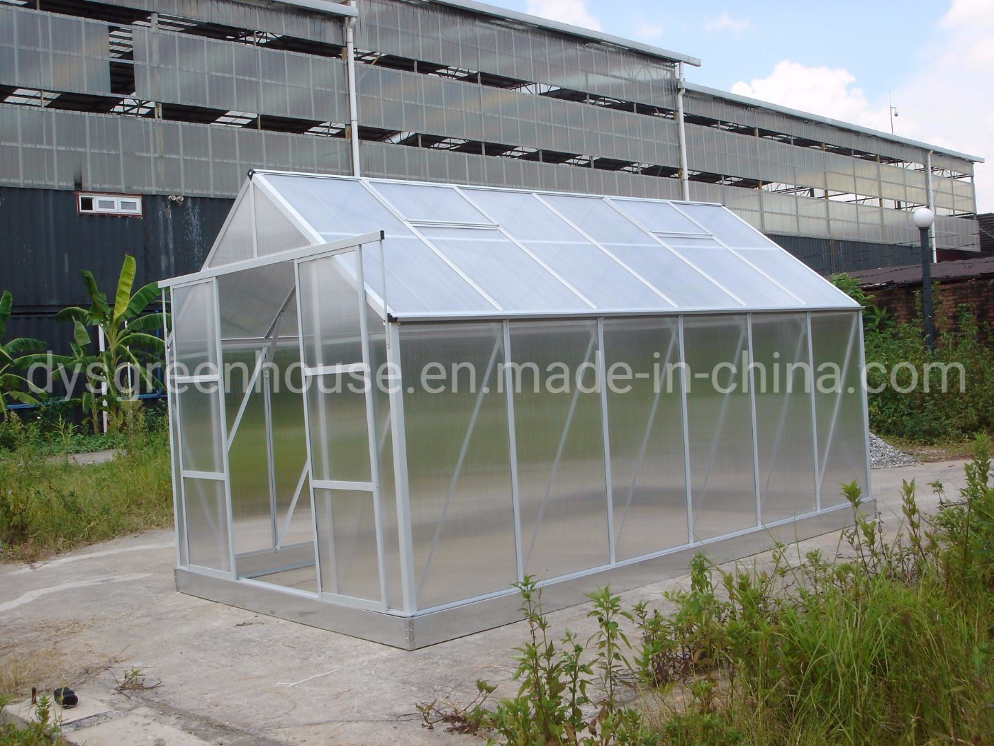 [Hot Item] Made-in-China Wholesale Alu Polycarbonate Greenhouse  (RDGA0812-6mm)