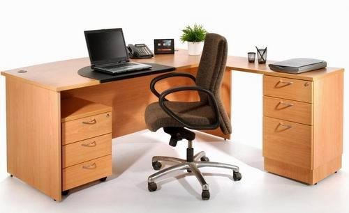 High Quality Wood Manager Office Desk Writing Desk (Knockdown System)