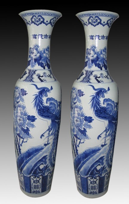 China 6 Feet Antique Hand Painted Large