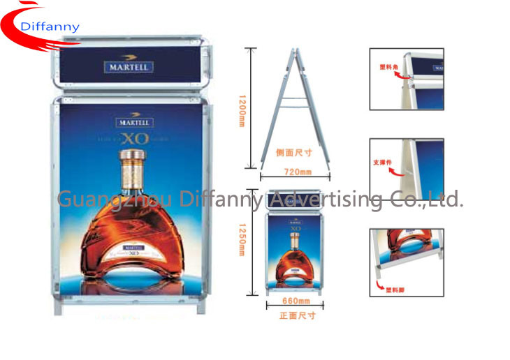 China Da001 Aluminum Snap Display Stand Double Sided a Board Poster ...