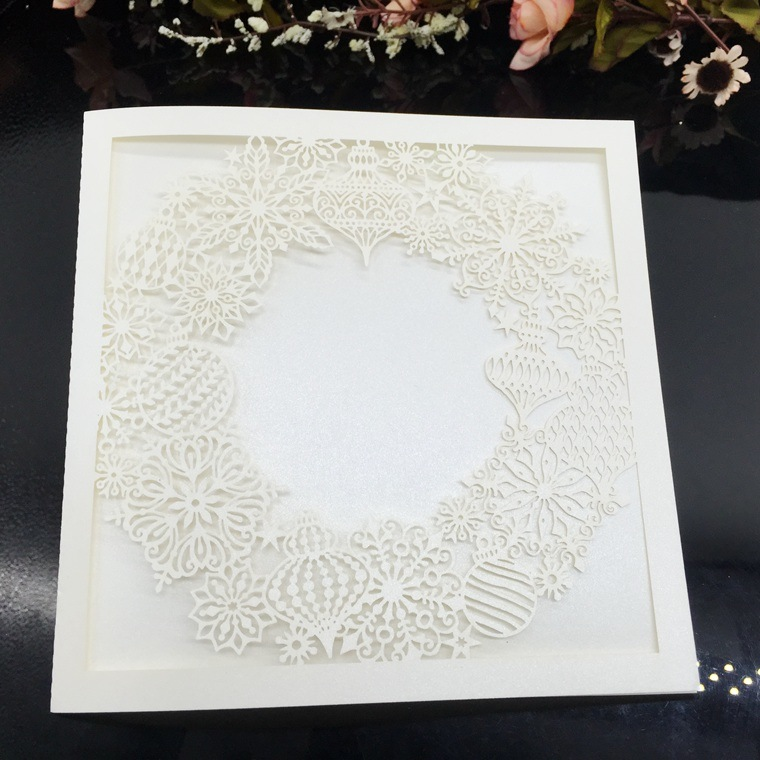 Hot Item White Hollow Laser Cut Wedding Invitations Card Elegant Greeting Card Personalized Envelopes Wedding Party Supplies