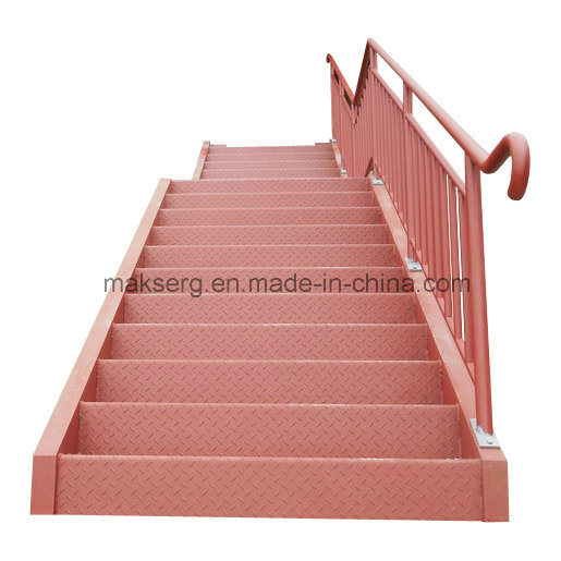 Australian ASTM Steel Straight Staircase with Primer for Factory and Warehouse