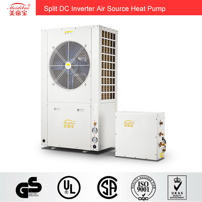 Split DC Inverter Air Source Heat Pump for Room Heating/Cooling Hot Water