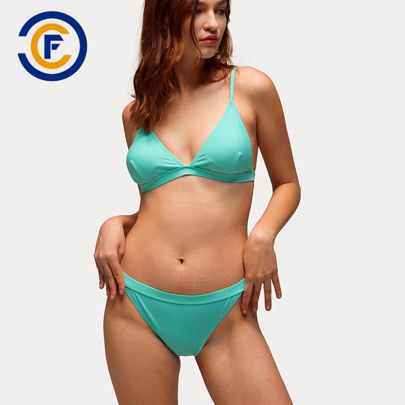China New Style Fashion Sexy Solid Bikini Lady Swimwear China Swimwear Bikini