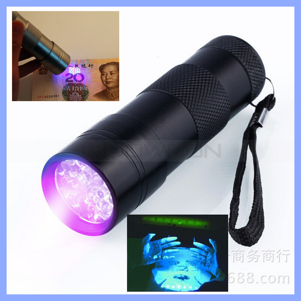 12 LED UV Flashlight Money Checker Torch