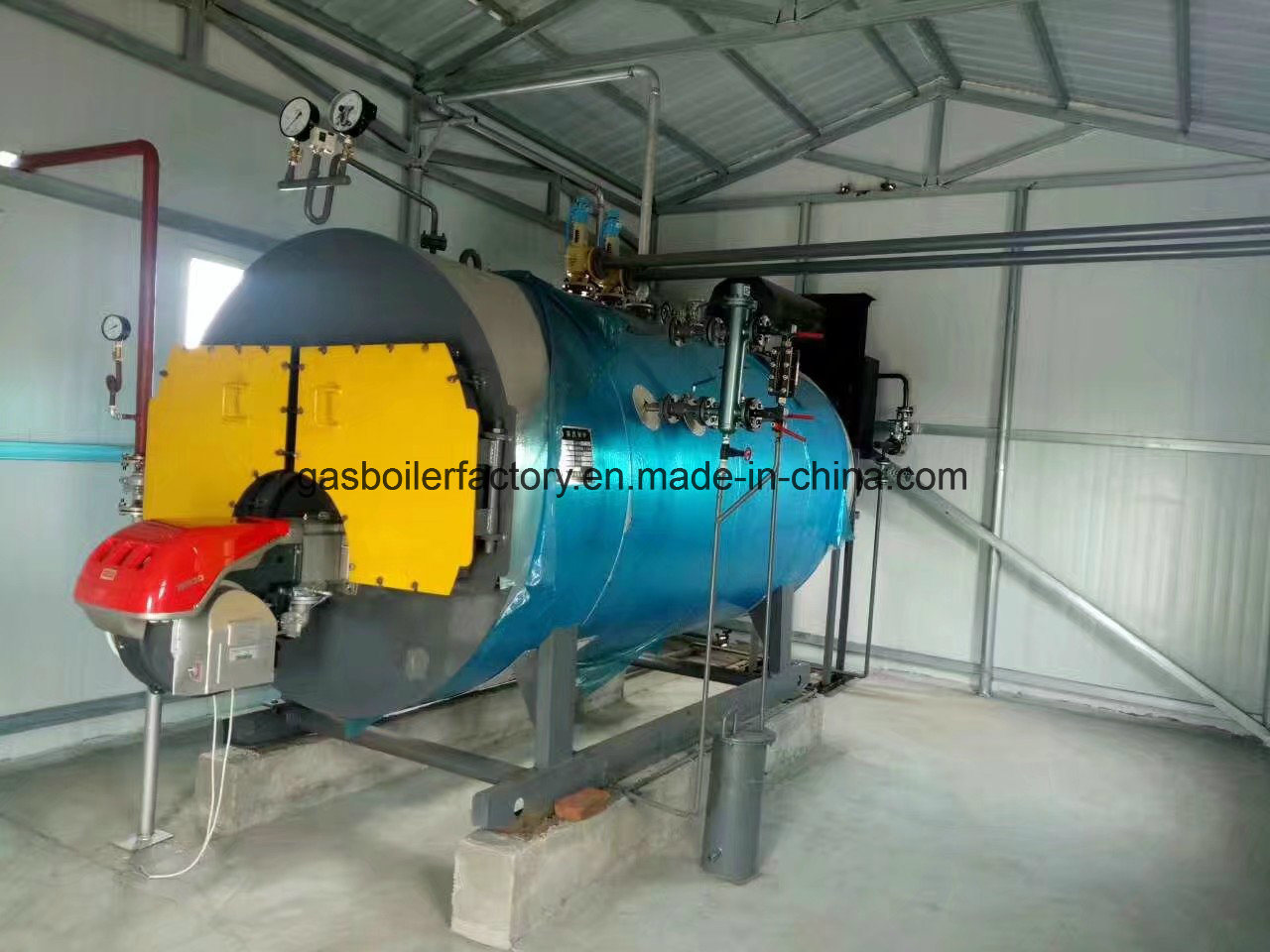 China Condensing Gas/Oil Fired Steam Boiler New Type 0.5t/H, 500kg/H ...