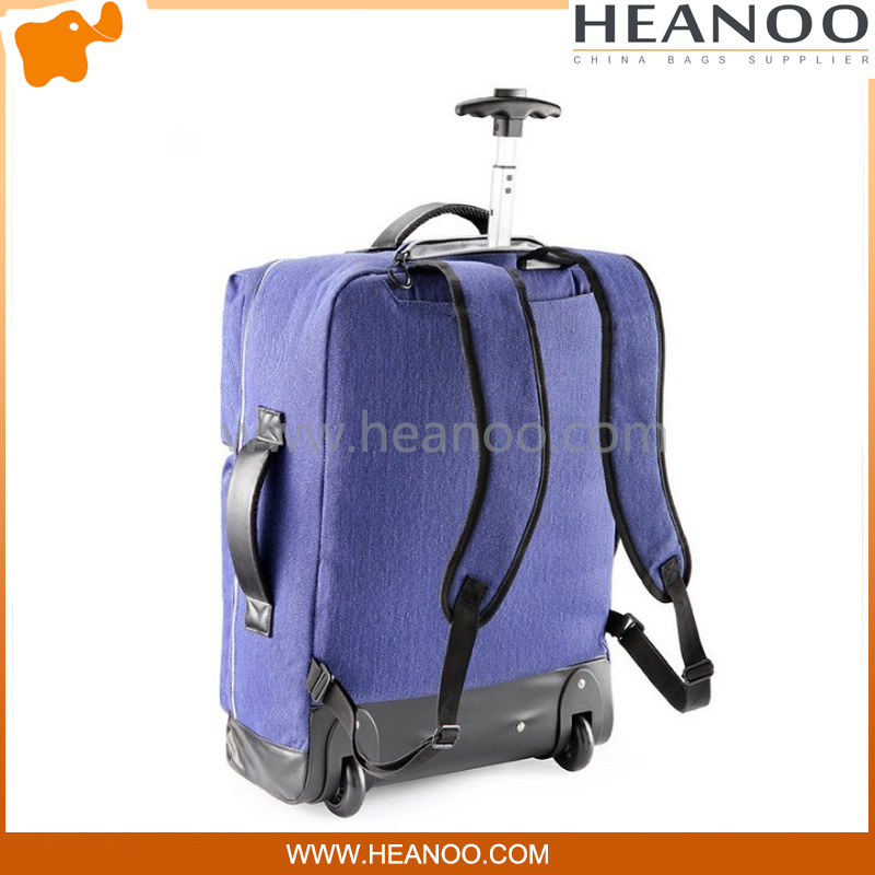 Small Brands School Rolling Trolley Carry on Luggage Backpack Bag