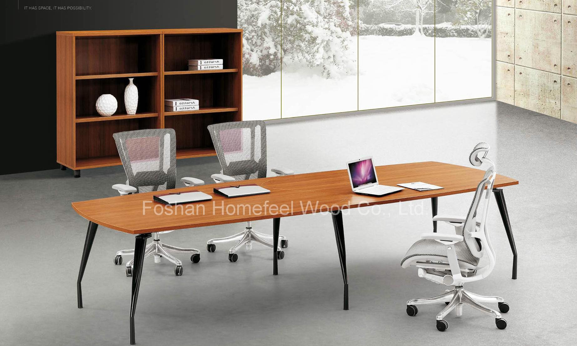 China Modern Metal Frame Oval Shape Conference Meeting Table HF - Oval shaped conference table