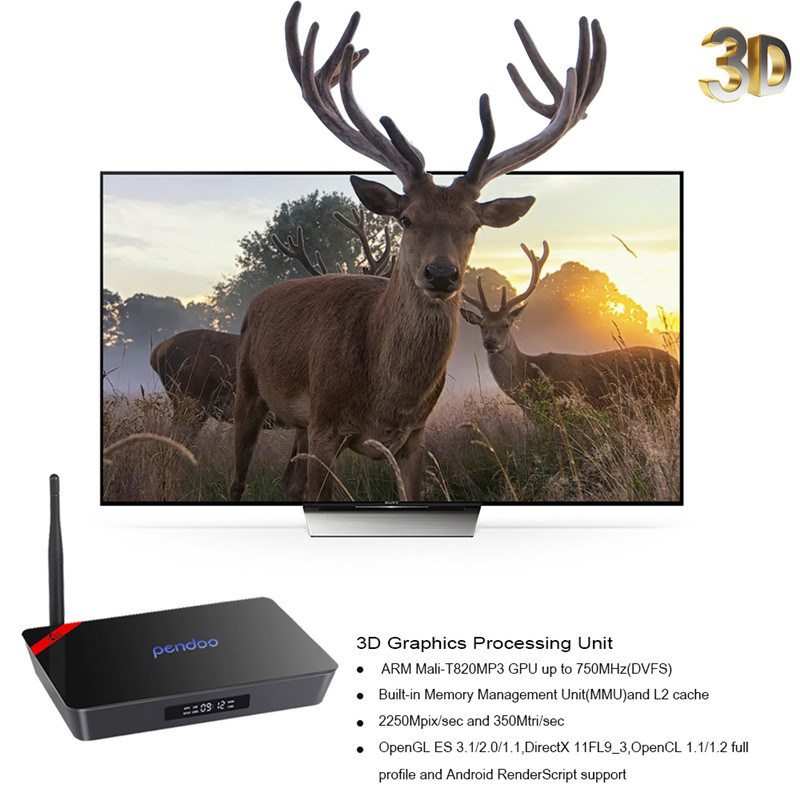 Pendoo X92 Android 6.0 2GB / 16GB Smart TV Box Amlogic S912 Octa Core CPU Kodi 16.1 pictures & photos
