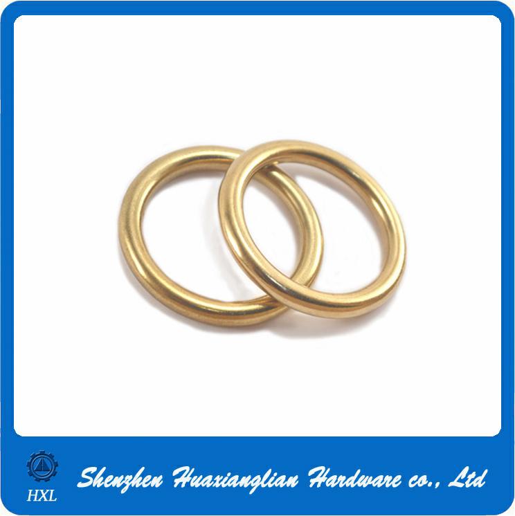 China Solid Copper Brass Nummular Split Thick O Rings for Handbag ...