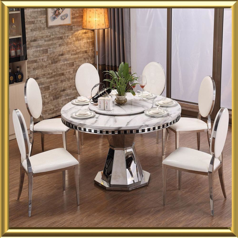 China Promotion Cheap High Quality Round Dining Table Set Glass