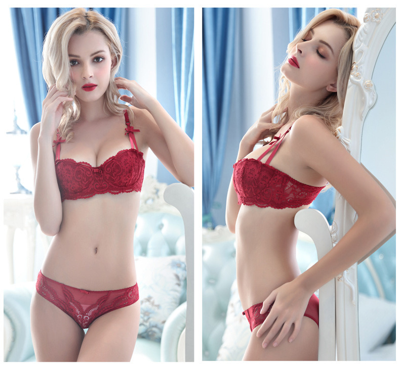 New Design Hot Lady Underwear Sexy Lace Bra Set (FPY338) pictures & photos