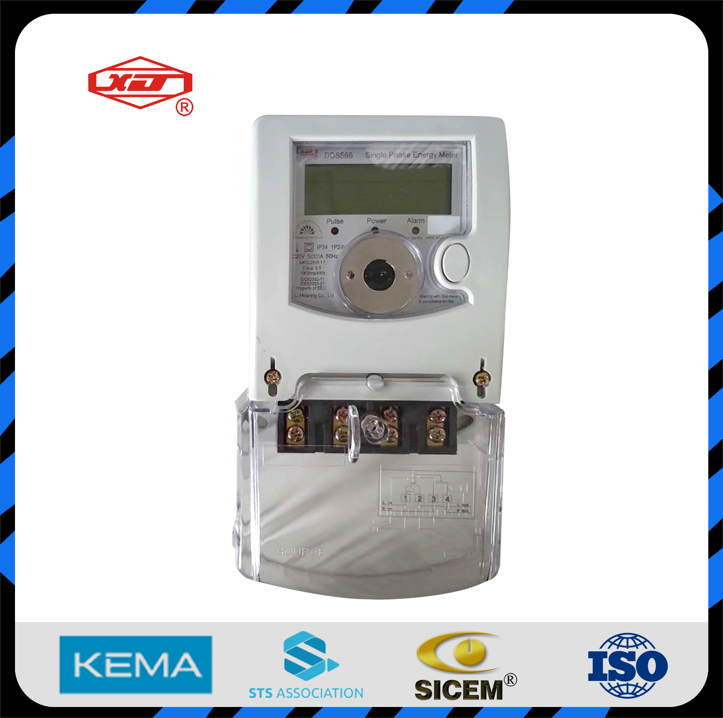 Accurate Factory Single Phase Energy Meter Power Meter