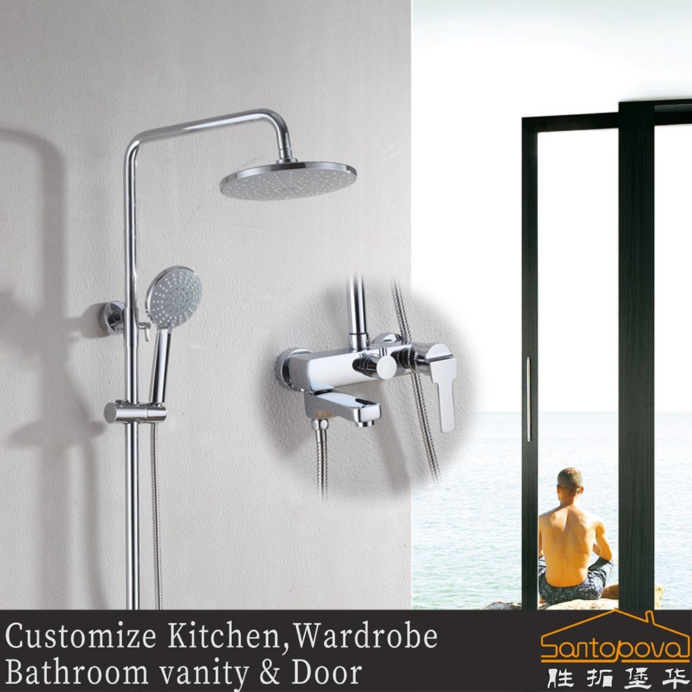 China Bathroom Brass Shower Sets Rain Shower Head - China Shower Set ...