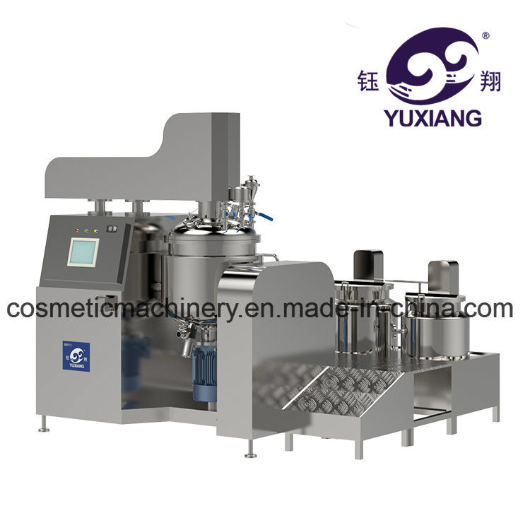 China Vacuum Cream Making Machine Hair Color Cream Mixer China
