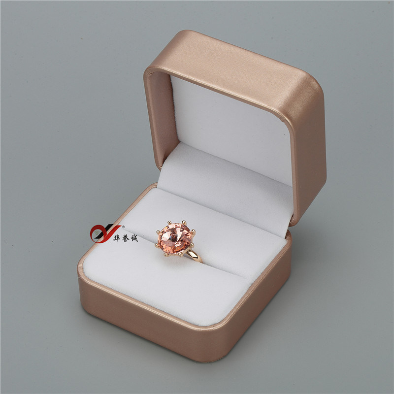 Champagne Jewelry PU Leather Ring/Bangle/Necklace/Earring Box Jewelry Organizer pictures & photos
