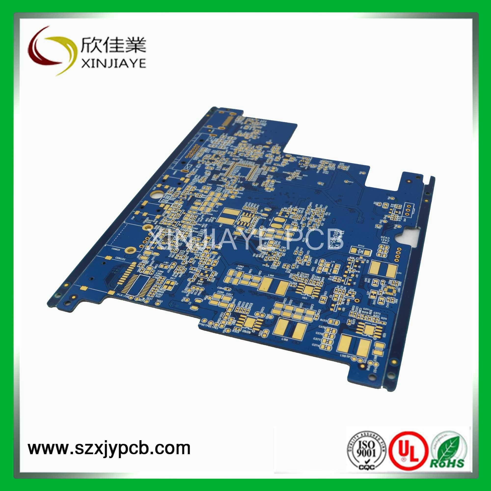 China Wifi Antenna Pcb Board With Blue Solder Mask Shenzhen Oem Electronic Printed Circuit Manufacturerpcb