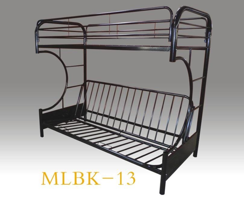 China Double Decker Durable C Futon Metal Bunk Bed Mlbk 13 Sofa