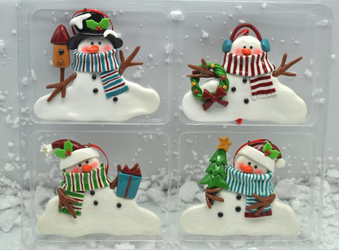 Polymer Clay Christmas Tree Decorations.Hot Item Snowmans Polymer Clay Christmas Tree Ornaments Wholesale