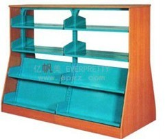 High Quality Bookshelf 4 Level Double Sided Hot Sale Library Sf 05b